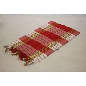 Ręcznik Hamam 170x80 cm - czerwony - 100% bawełna